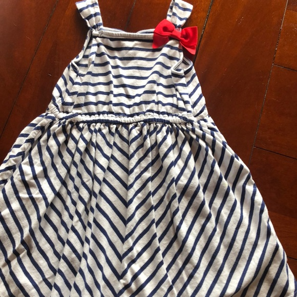 Gymboree Blue and White Striped Dress 4T